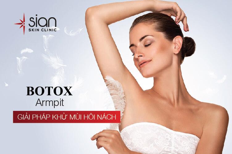 Trị hôi nách hiệu quả bằng Botox tại phòng khám SIAN
