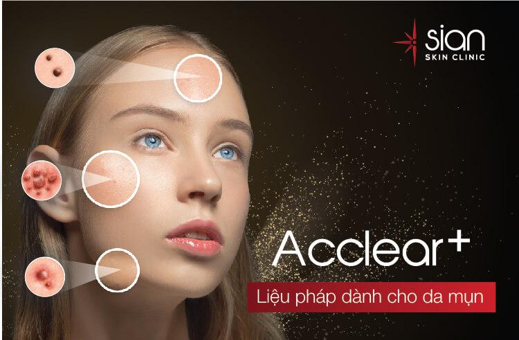Acclear - Liệu pháp dùng cho da mụn tại SIAN