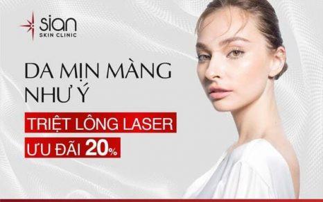 Triệt lông laser chất lượng cao - Thẩm mỹ SIAN